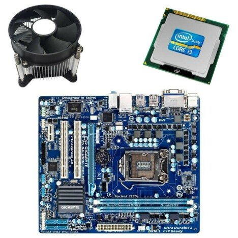 Kit Placa de Baza Refurbished GIGABYTE GA-H61M-USB3-B3, Intel i3-2100, Cooler